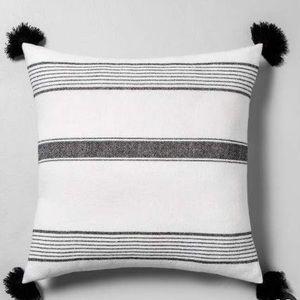 Hearth & Hand Throw Pillow Sour Cream/Black strips